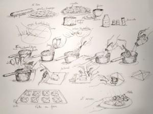26 mars © Feuilletées aux asperges et crevettes
