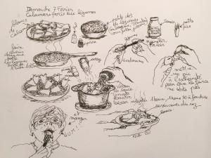 Dimanche 7 février Calamars farcis aux petits légumes