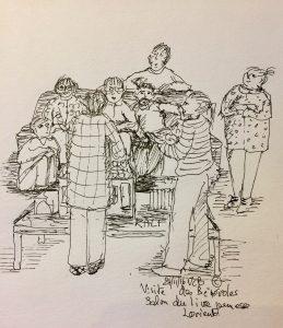 24 novembre © Visite des bénévoles au salon du livre jeunesse à Lorient
