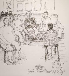 12 septembre © ateliers ouverts Galerie Pom Broc'art cafe